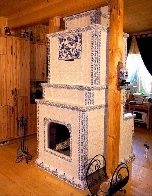 Камин-печь в интерьере