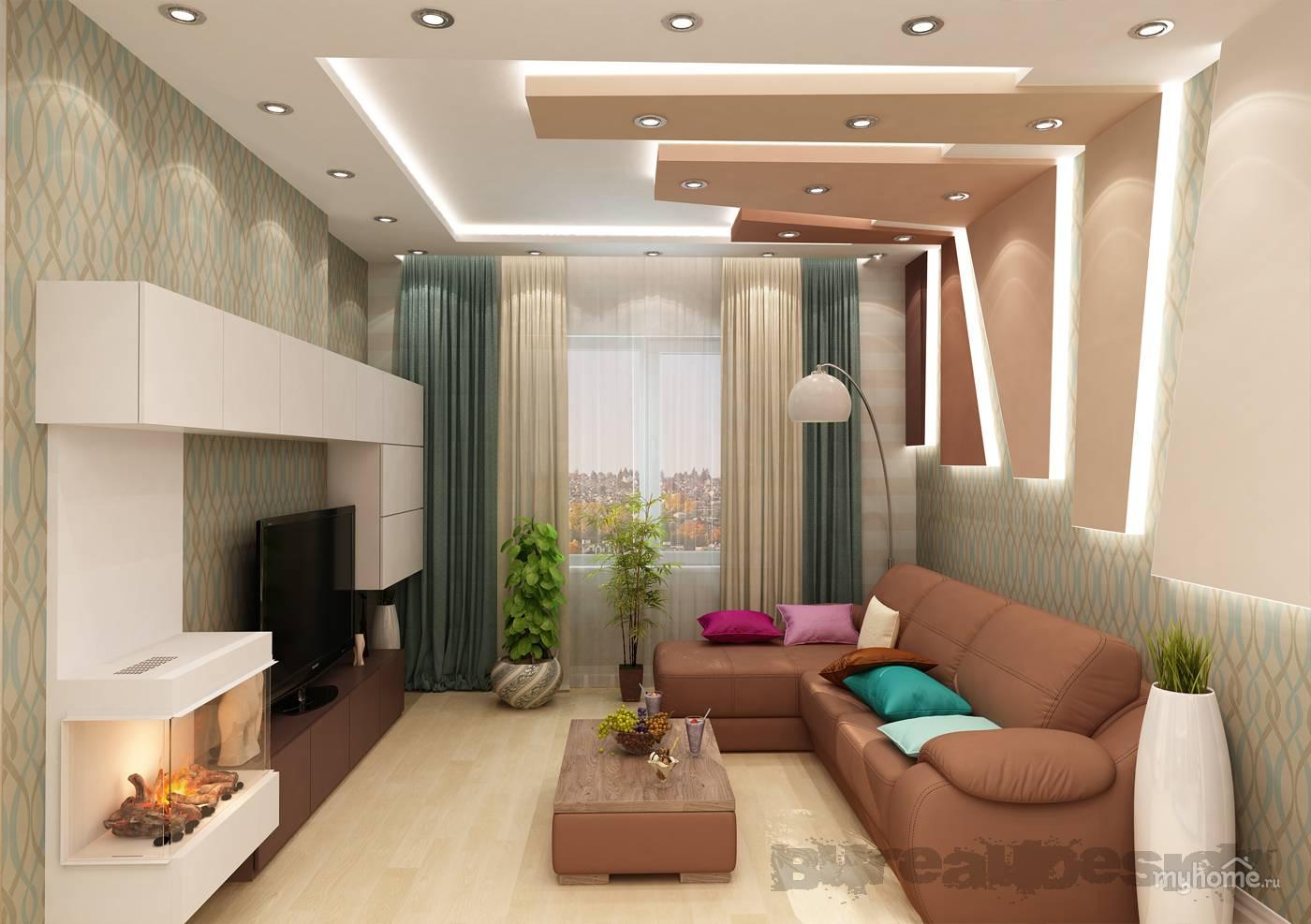 Проект дизайна совмещенной кухни и гостиной небольших размеров: планировка, рекомендации по интерьеру, фото.
