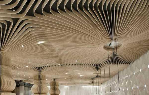 Комбинация потолков из гипсокартона и натяжных потолков - примеры с интересным дизайном