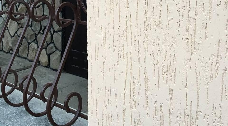 Фасадная штукатурка короед: облицовка, декоративная отделка
