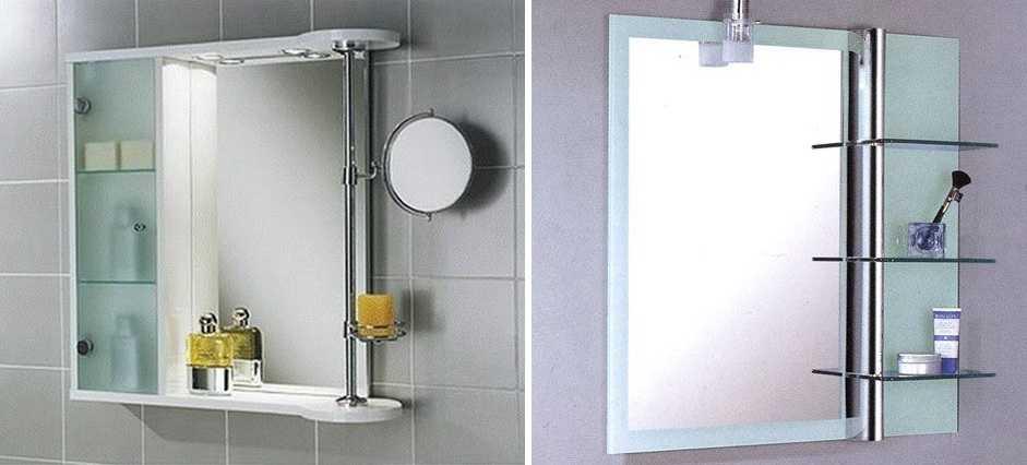 Полки для ванной, разновидности конструкций - фото примеров
