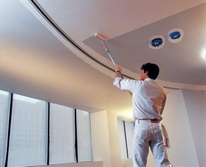 Каким валиком покрасить потолок водоэмульсионной краской