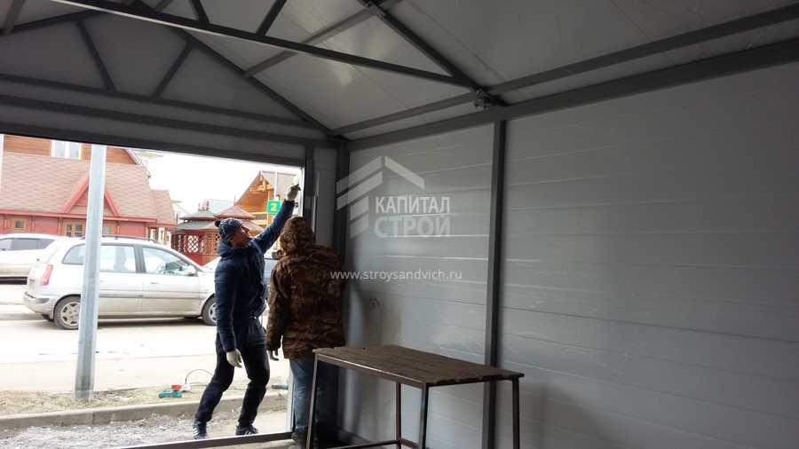 Качественный гараж из сэндвич-панелей: секреты мастерства и пошаговая инструкция строительства