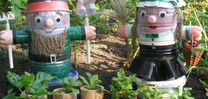 Поделки из пластиковых бутылок для сада своими руками - Пошаговая инструкция для начинающих Видео