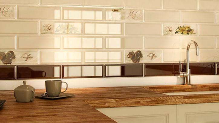 Плитка кабанчик на фартук кухни: фото и белый цвет в дизайне