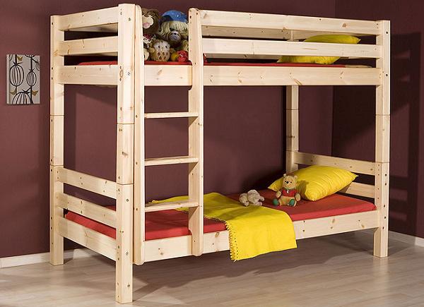 Размеры двухъярусной кровати: стандартные габариты двухэтажной модели
