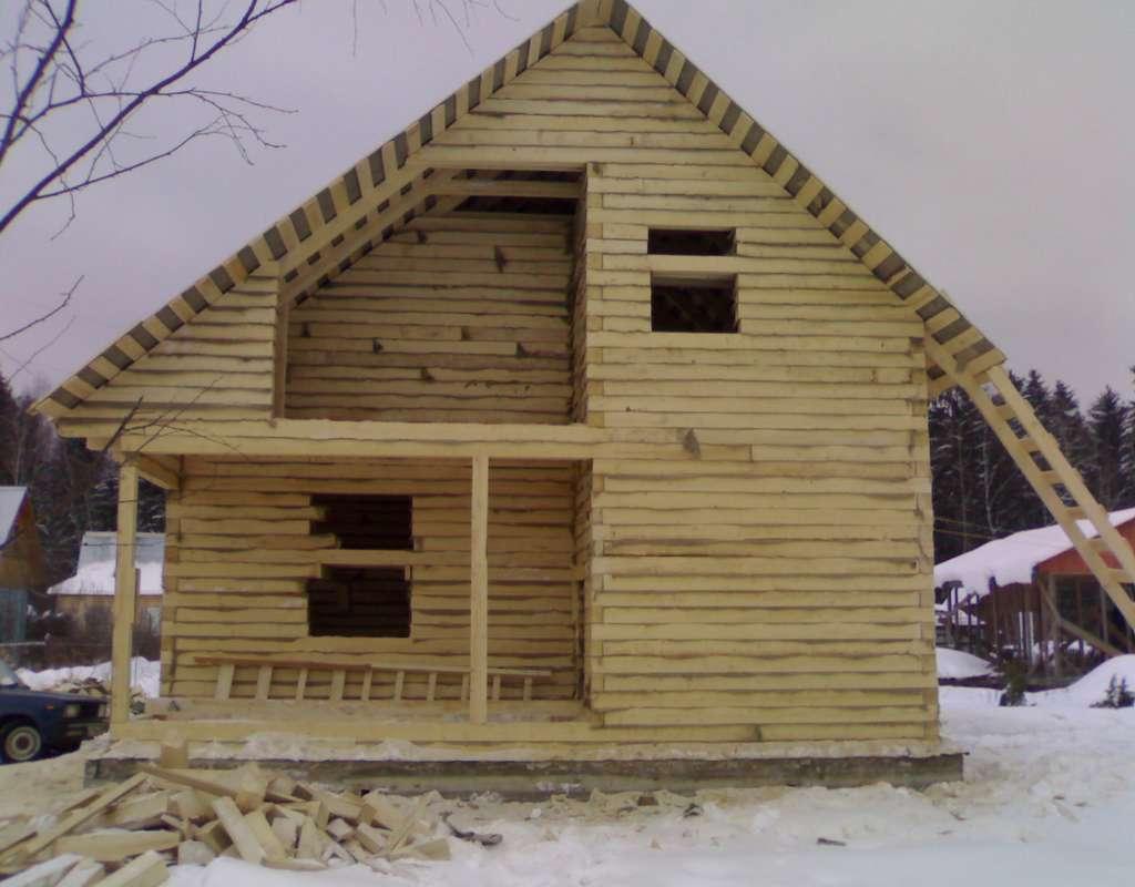 Дом из профилированного бруса своими руками: пошаговая инструкция