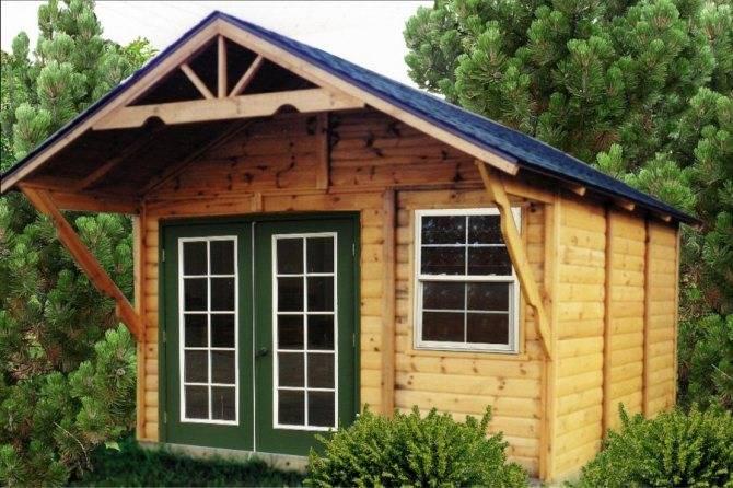 Строим сами каркасный сарай с односкатной крышей