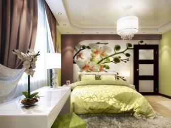 Фотообои в спальню над кроватью, фото идеи и рекомендации специалистов