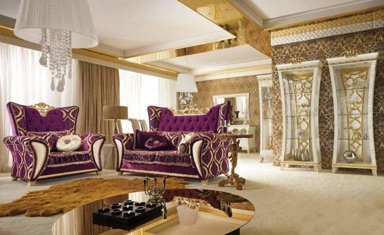 Гостиная барокко — стильные, уютные и напыщенные варианты оформления гостиных комнат (85 фото)