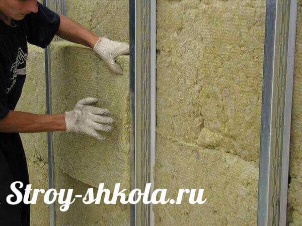 Утепление стен изнутри минватой плюс и обшивка гипсокартоном