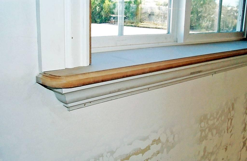 Деревянный подоконник своими руками, также из спила: фото, установка и монтаж конструкции на окне дома и как выровнять, обновить поверхность и сделать откосы?