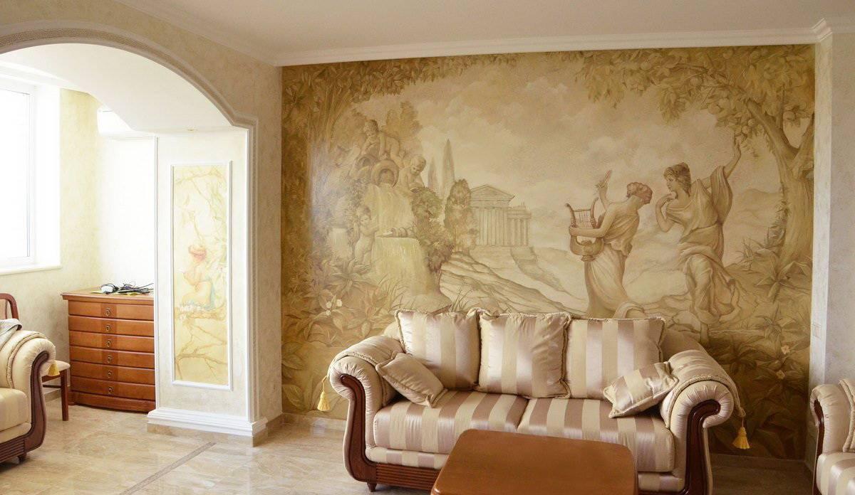 Фрески на стену: каталог, фото, цены, виды, как сделать своими руками