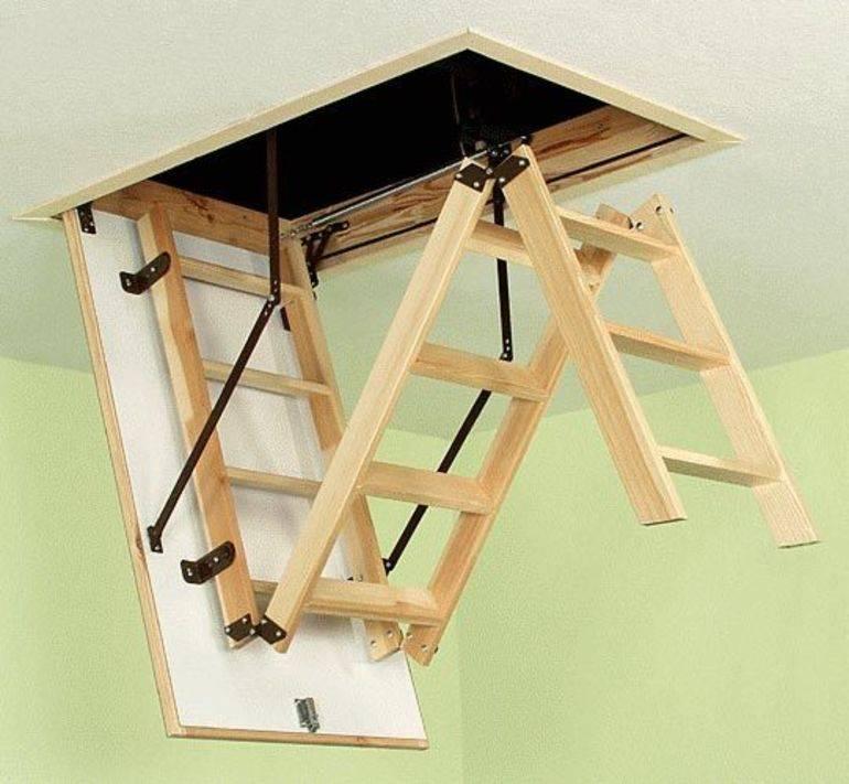 Чердачная лестница своими руками: подробная инструкция по монтажу