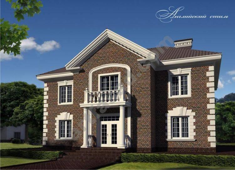 Дома в английском стиле - варианты отделки (74 фото): проект одноэтажного дома из кирпича, интерьер загородного кирпичного коттеджа