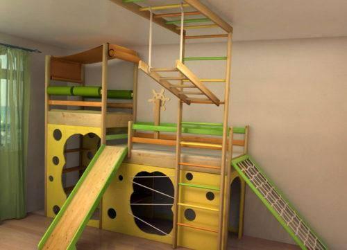 Детский спортивный комплекс в квартире: делаем своими руками
