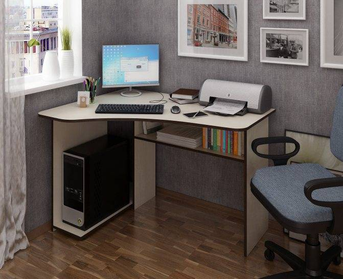 Компьютерный стол угловой своими руками: фото и видео