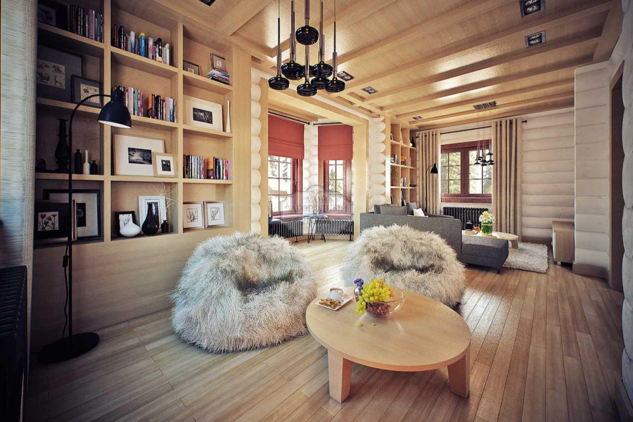 Интерьер дома из бревна: все особенности оригинального дизайна