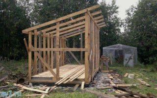 Как правильно строить сарай с односкатной крышей: лучшие варианты и технологии их реализации