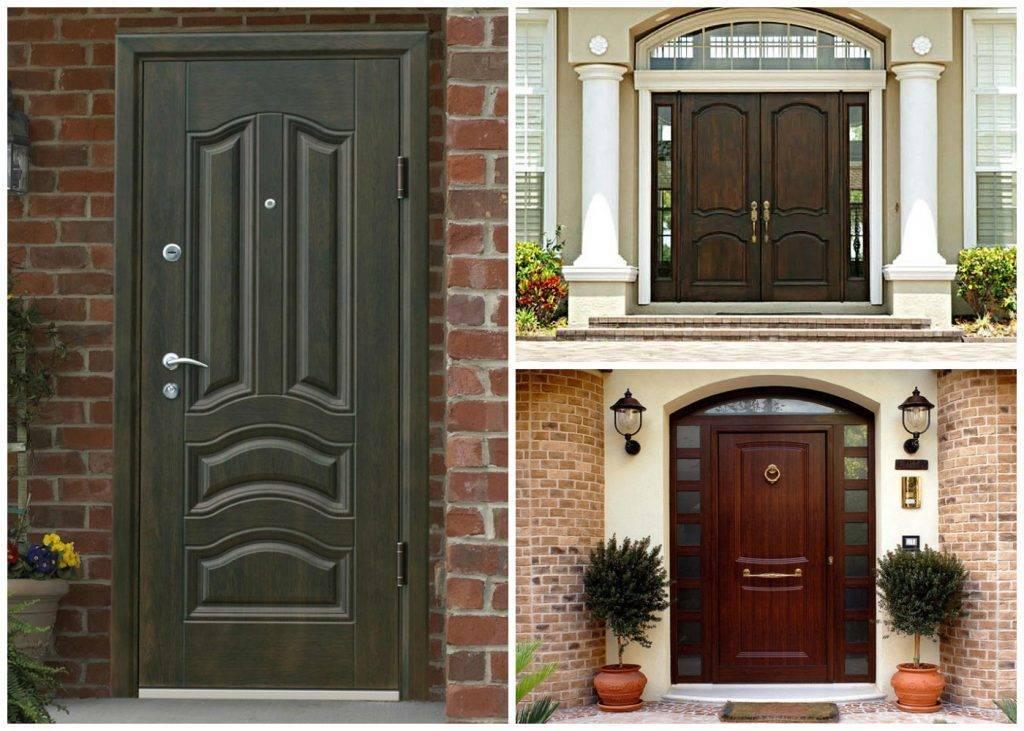Входная металлическая дверь в дом + 175 фото