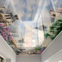Натяжные потолки с 3d эффектом: дизайн и рисунки, примеры в интерьере комнат