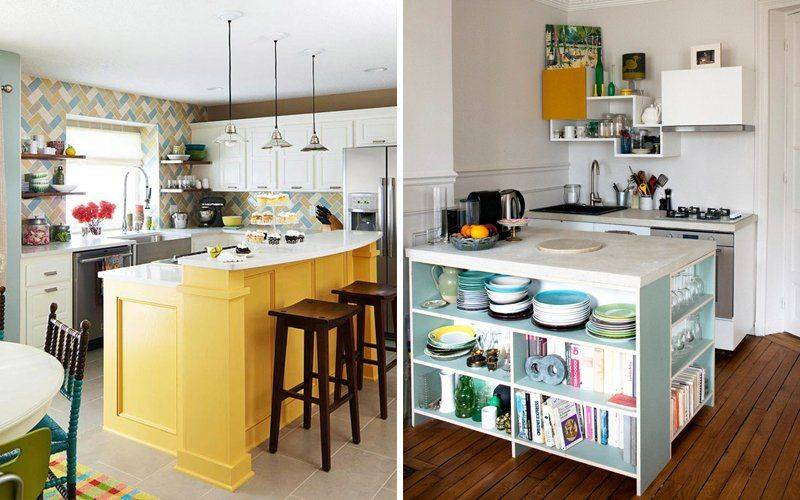 Кухня с островом: виды, размеры кухонного острова - школа ремонта