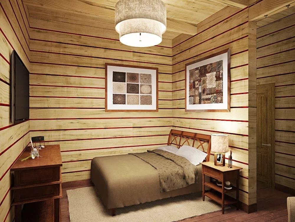 Дизайн спальни в деревянном доме: 75 вариантов интерьера и декора