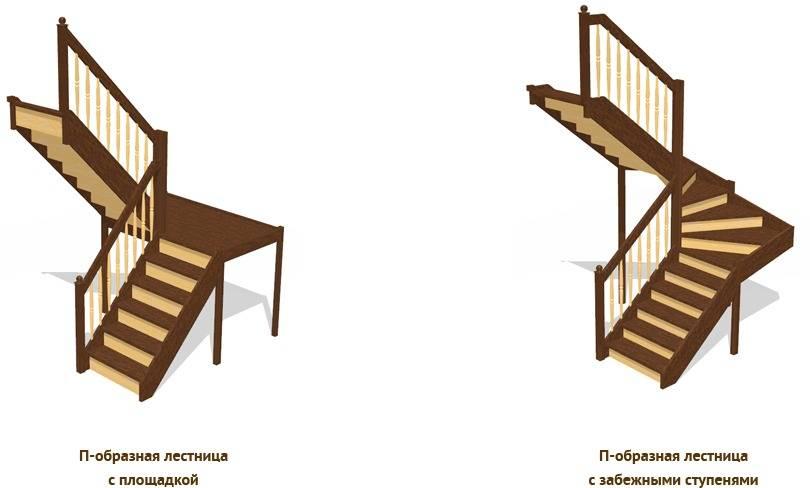 Г-образная лестница своими руками — как сделать угловую лестницу