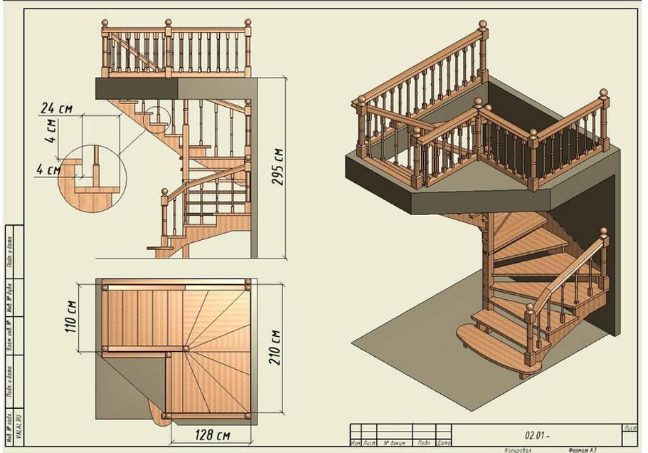 Винтовая лестница: изготовление для дома своими руками