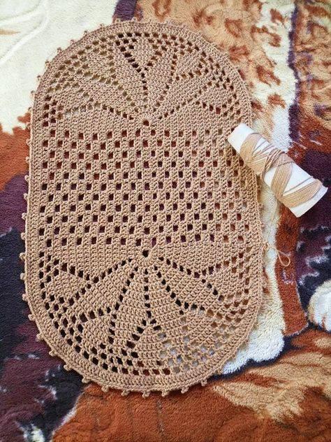 Украшаем дом изделиями ручной работы: схемы вязания ковров из шнура крючком