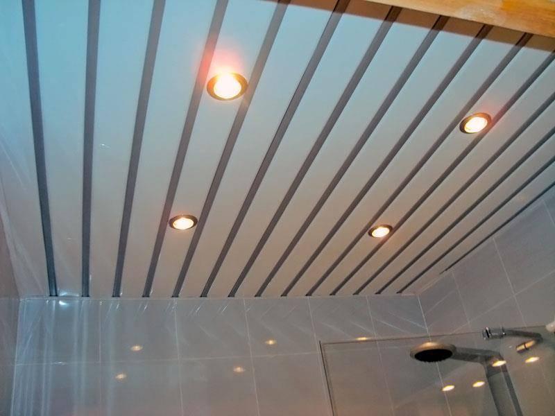 Реечный потолок в ванной комнате: особенности монтажа, цены, отзывы