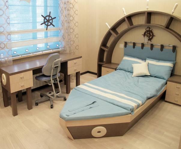 Детская комната в морском стиле: оформление интерьера спальни своими руками