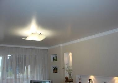 Сатиновый натяжной потолок: фото, плюсы и минусы, дизайн, белый, матовый