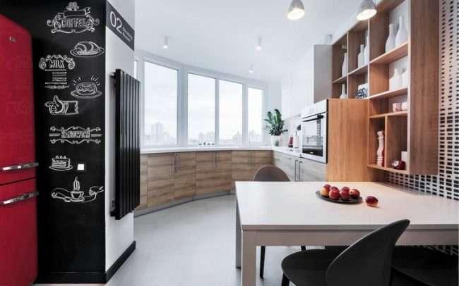 Кухня с лоджией:120+ (фото) совмещения. большой и уютный дизайн