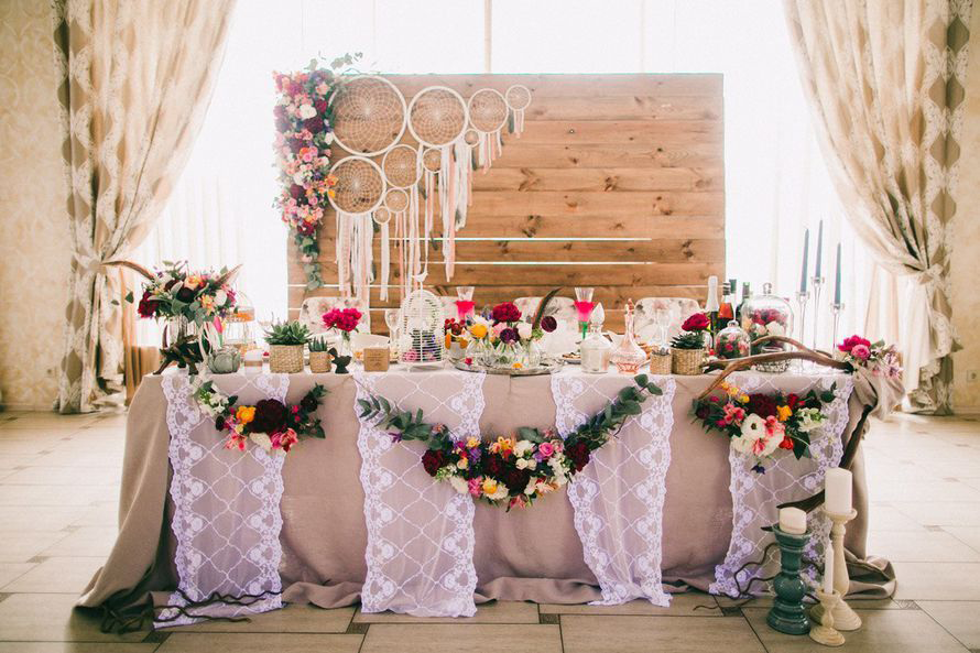 Украшение стен на свадьбу своими руками - идеи декора, фото и видео