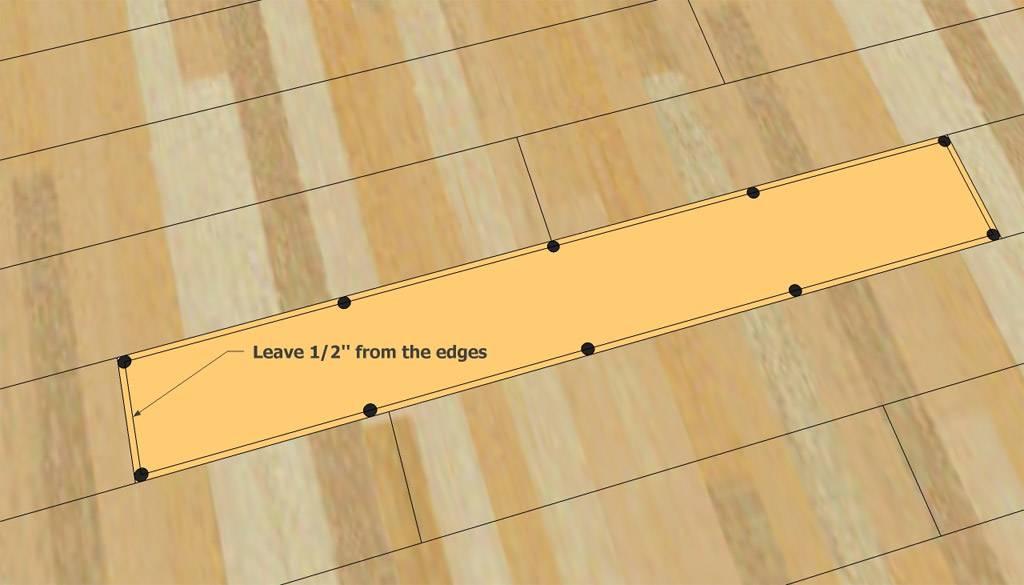 Ремонт ламината своими руками без разбора, замена досок со сколами заделка царапин и стыков, реставрация светлого ламинированного покрытия пола