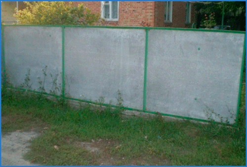 Забор из шифера своими руками - пошаговая инструкция с фото и видео