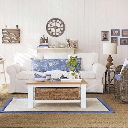 Морской дизайн интерьера кухни, спальни, ванной своими руками, как подобрать цвета, шторы и аксессуары