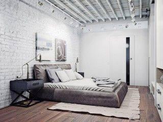 Грамотное обустройство спальни в стиле лофт