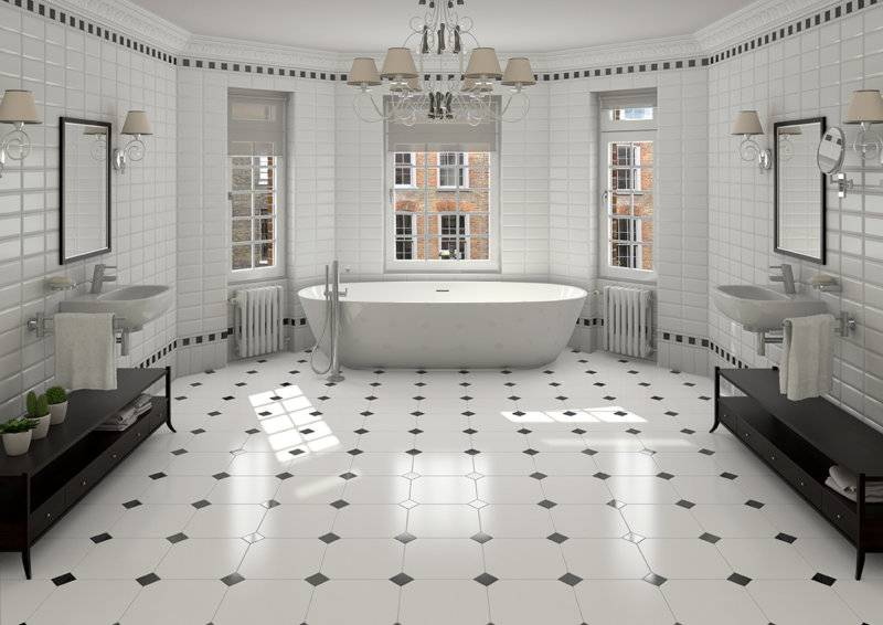 Мозаика в туалете: примеры эффектной отделки