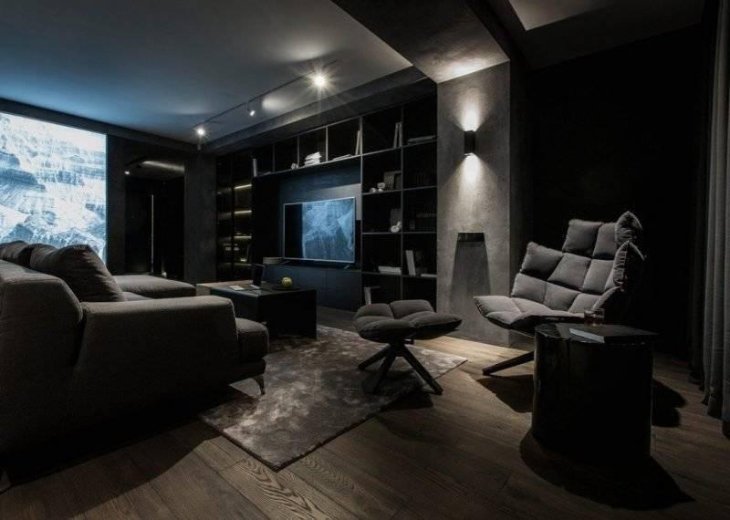 Темный интерьер 2021-2022: фото новинки дизайн интерьера в темных оттенках