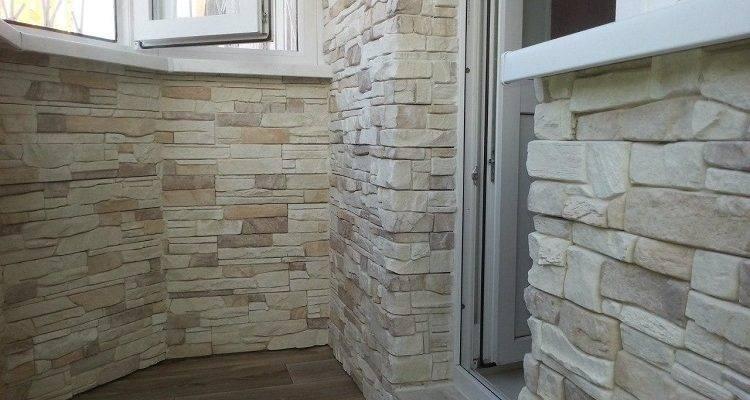 Внутренняя отделка балконов камнем: монтаж натурального, искусственного