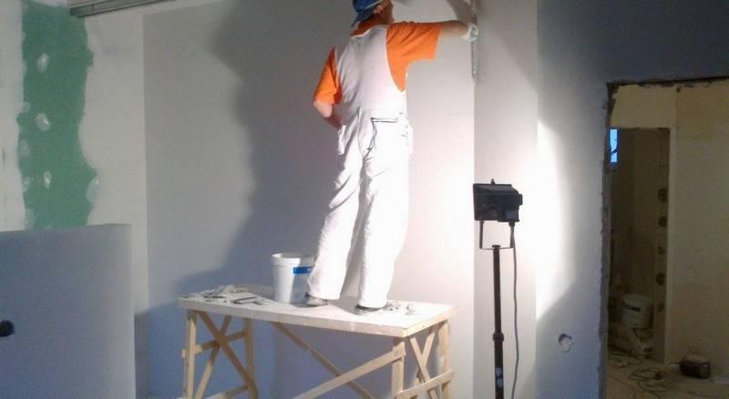 Финишная шпаклевка под покраску: лучшая готовая шпаклевка для стен, суперфинишные составы