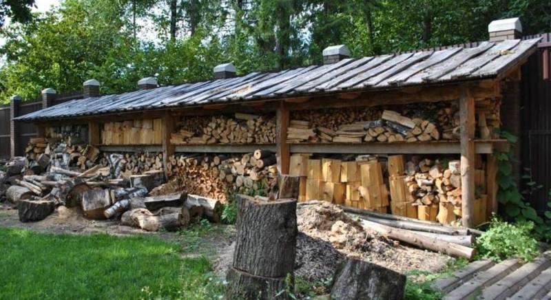 Навес для дров: инструкция как сделать незаменимое сооружение