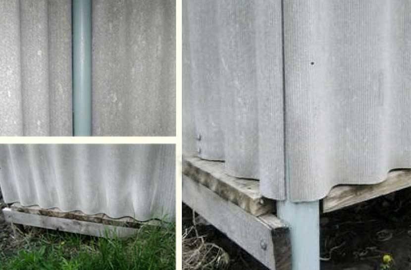Забор из шифера: достоинства и недостатки материала