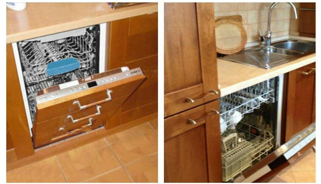 Установка посудомоечной машины в готовую кухню: встраиваемой, как встроить, схема монтажа своими руками, подключение, правильно, пошаговая инструкция, самостоятельно