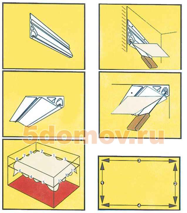 Тканевые натяжные потолки (50 фото в интерьере)