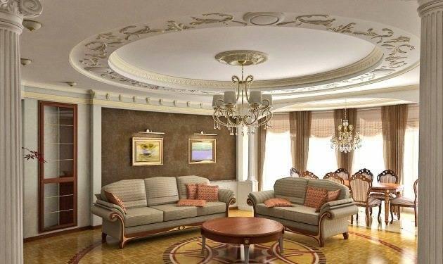 Лепнина на потолке: классический и интересный вариант отделки