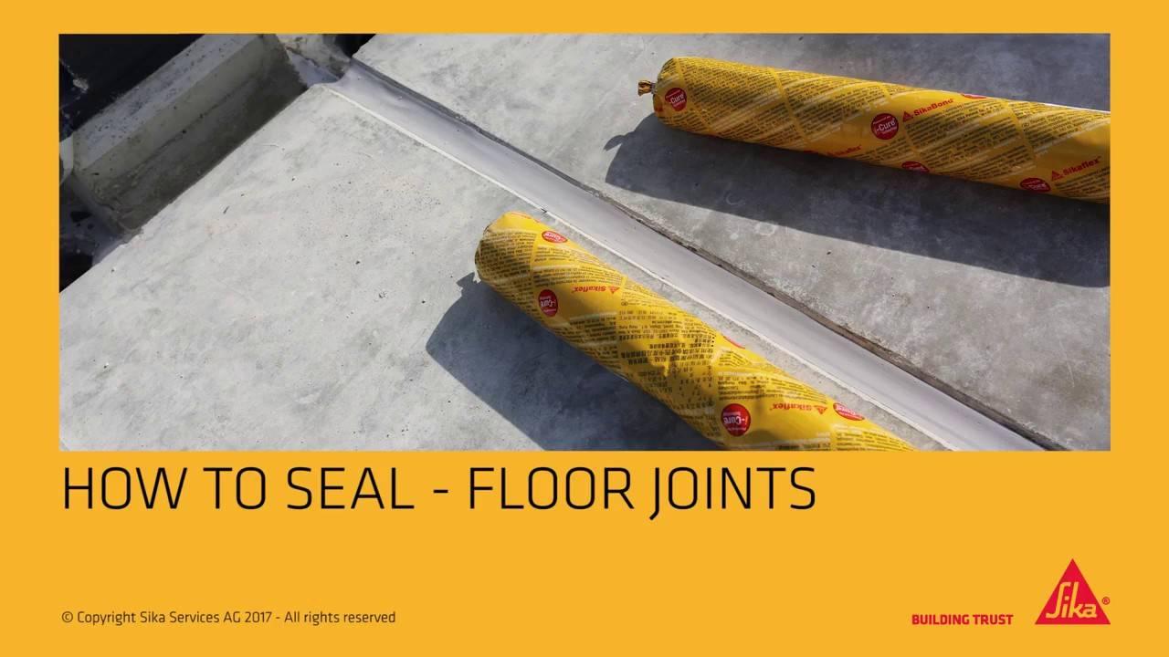 Герметик для бетона: заделка деформационных швов, фото