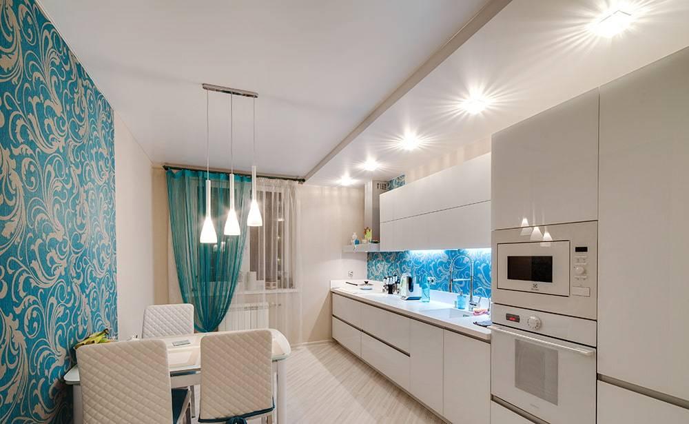 Натяжные потолки на кухню: 50+ фото удачного дизайна